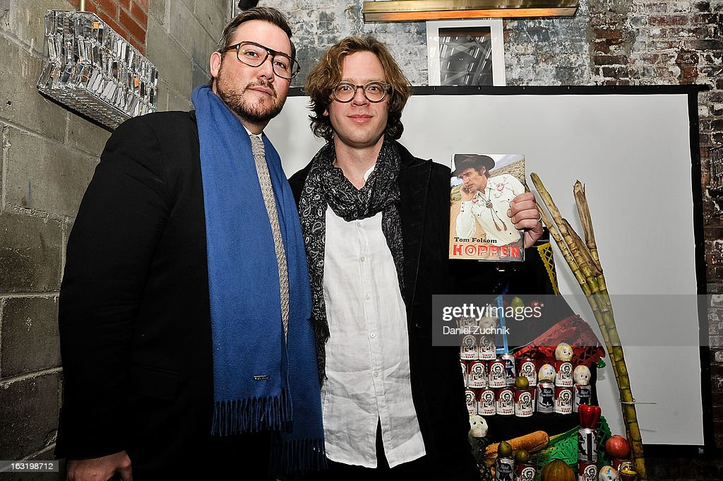 Adrian Mainella and Tom Folsom attend the 'Hopper: A Journey Into the American Dream' book launch on March 5, 2013 in New York City.