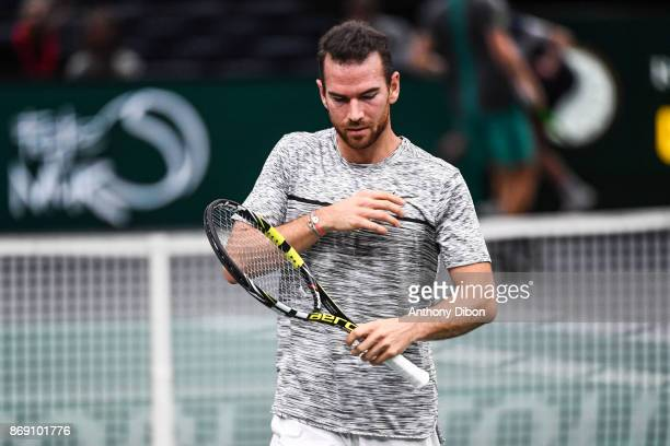 Adrian Mannarino during the Day 3 of the Rolex Paris Masters at AccorHotels Arena on November 1 2017 in Paris France