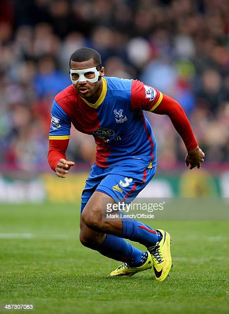 Adrian Mariappa of Crystal Palace during the Barclays Premier League match between Crystal Palace and Manchester City at Selhurst Park on April 27...