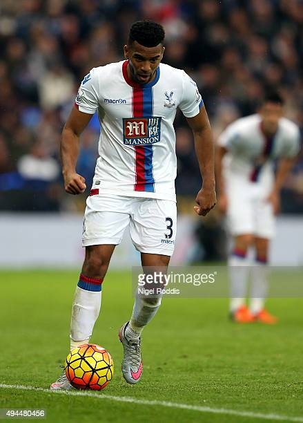 Adrian Mariappa of Crystal Palace during the Barclays Premier League match between Leicester City and Crystal Palace at The King Power Stadium on...