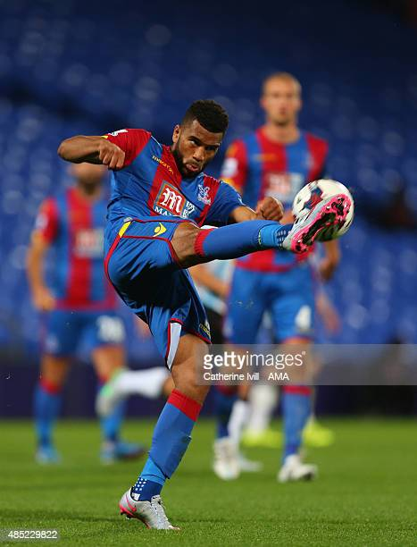 Adrian Mariappa of Crystal Palace during the Capital One Cup match between Crystal Palace and Shrewsbury Town at Selhurst Park on August 25 2015 in...