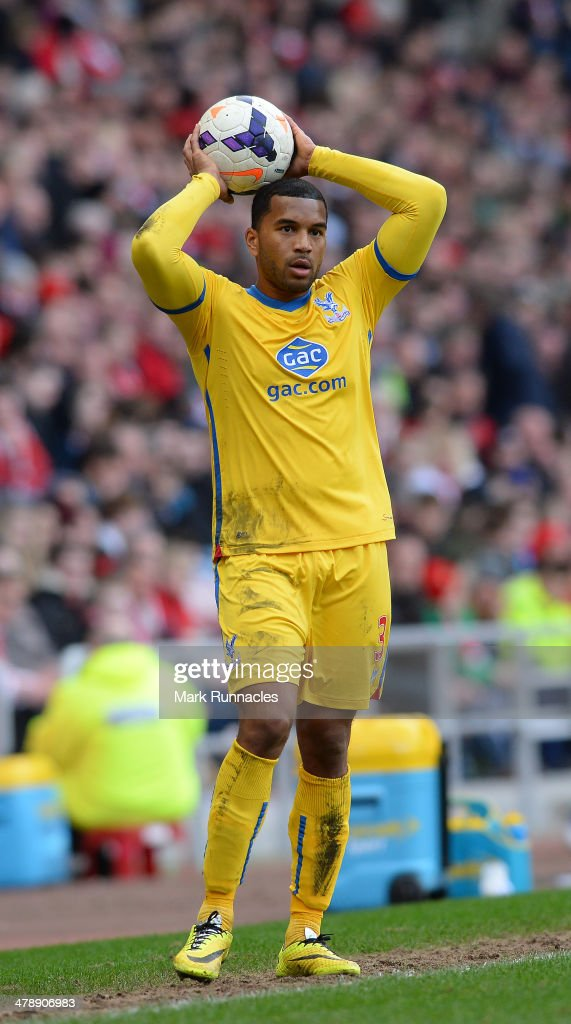 <a gi-track='captionPersonalityLinkClicked' href=/galleries/search?phrase=Adrian+Mariappa&family=editorial&specificpeople=661604 ng-click='$event.stopPropagation()'>Adrian Mariappa</a> of Crystal Palace in action during the Barclays English Premier League match between Sunderland and Crystal Palace at the Stadium of Light on March 15 2014 in Sunderland, England.