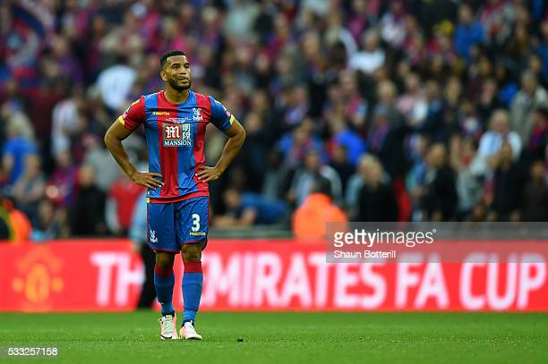 Adrian Mariappa of Crystal Palace looks dejected in defeat after The Emirates FA Cup Final match between Manchester United and Crystal Palace at...