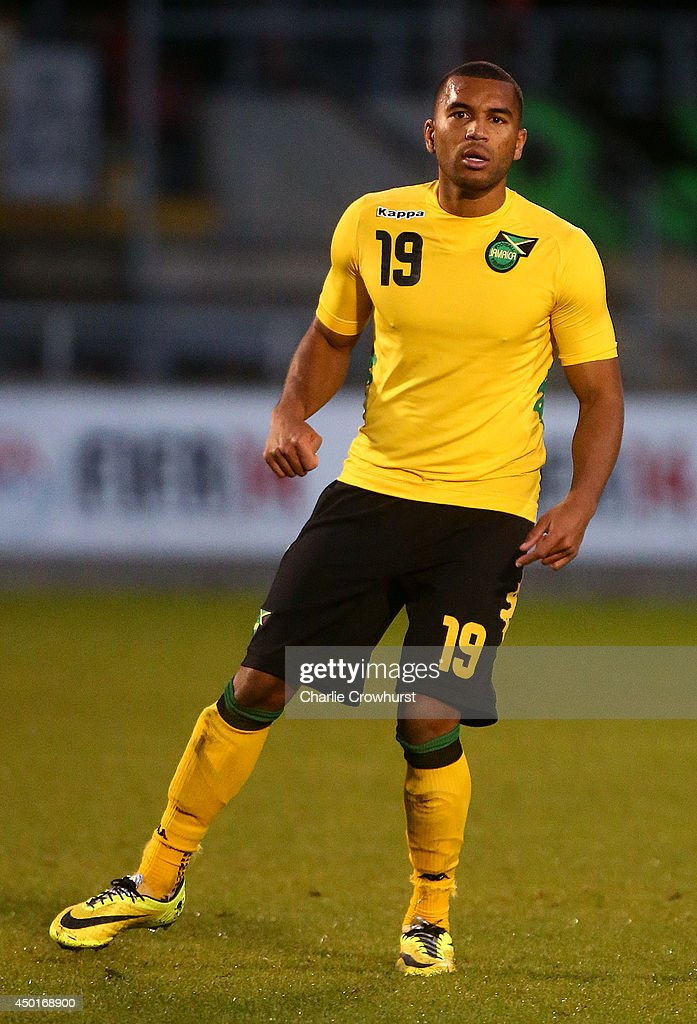 <a gi-track='captionPersonalityLinkClicked' href=/galleries/search?phrase=Adrian+Mariappa&family=editorial&specificpeople=661604 ng-click='$event.stopPropagation()'>Adrian Mariappa</a> of Jamacia during the International Friendly match between Jamacia and Egypt at The Matchroom Stadium on June 04, 2014 in London, England.