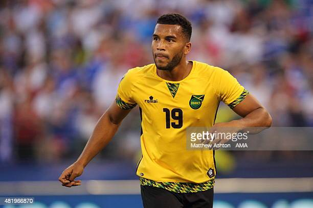 Adrian Mariappa of Jamaica during the Gold Cup Quarter Final between Haiti and Jamaica at MT Bank Stadium on July 18 2015 in Baltimore Maryland