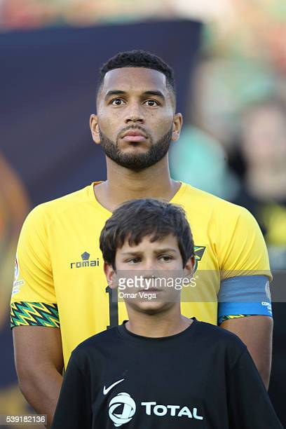 Adrian Mariappa of Jamaica stands during a group C match between Jamaica and Mexico at Rose Bowl as part of Copa America Centenario US 2016 on June...