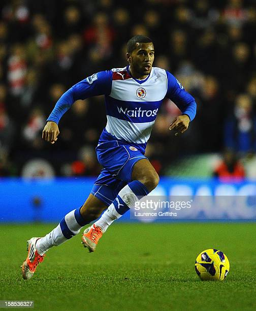 Adrian Mariappa of Reading in action during the Barclays Premier League match between Reading and Arsenal at Madejski Stadium on December 17 2012 in...