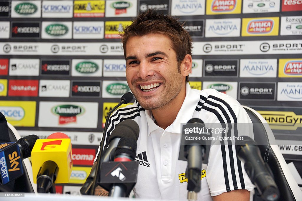 <a gi-track='captionPersonalityLinkClicked' href=/galleries/search?phrase=Adrian+Mutu&family=editorial&specificpeople=211247 ng-click='$event.stopPropagation()'>Adrian Mutu</a> is unveiled by AC Cesena as their new player during a press conference at Dino Manuzzi Stadium on July 7, 2011 in Cesena, Italy.