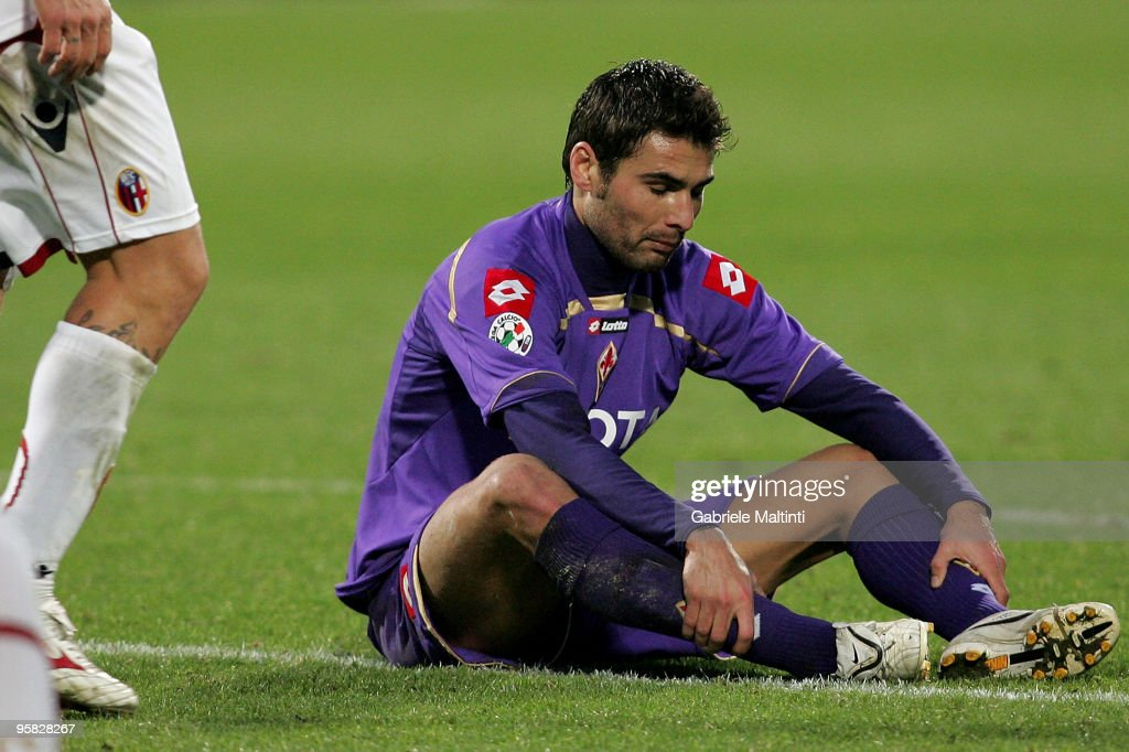 <a gi-track='captionPersonalityLinkClicked' href=/galleries/search?phrase=Adrian+Mutu&family=editorial&specificpeople=211247 ng-click='$event.stopPropagation()'>Adrian Mutu</a> of ACF Fiorentina shows his dejection during the Serie A match between Fiorentina and Bologna at Stadio Artemio Franchi on January 17, 2010 in Florence, Italy.
