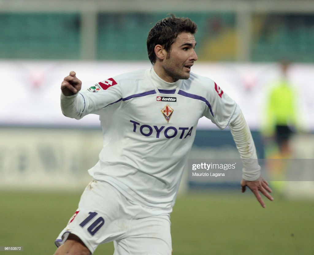 <a gi-track='captionPersonalityLinkClicked' href=/galleries/search?phrase=Adrian+Mutu&family=editorial&specificpeople=211247 ng-click='$event.stopPropagation()'>Adrian Mutu</a> of Fiorentina is shown in action during the Serie A match between Palermo and Fiorentina at Stadio Renzo Barbera on January 24, 2010 in Palermo, Italy.