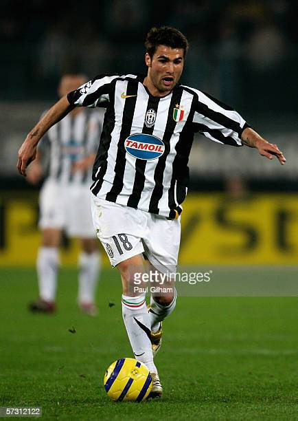 Adrian Mutu of Juventus in action during the UEFA Champions League Quarter Final Second Leg match between Juventus and Arsenal at the Delle Alpi...