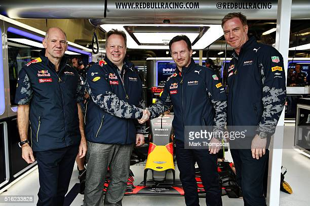 Adrian Newey the Chief Technical Officer of Red Bull Racing Andy Palmer Chief Executive Officer of Aston Martin Red Bull Racing Team Principal...