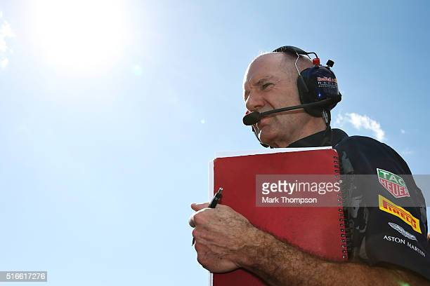 Adrian Newey the Chief Technical Officer of Red Bull Racing on the grid during the Australian Formula One Grand Prix at Albert Park on March 20 2016...