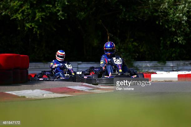 Adrian Newey the Infiniti Red Bull Racing Chief Technical Officer and Infiniti Red Bull Racing Team Principal Christian Horner compete during the Red...