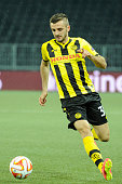Adrian Nikci of BSC Young Boys in action during the UEFA Europa League match between BSC Young Boys and SK Slovan Bratislava at the Stade de Suisse...