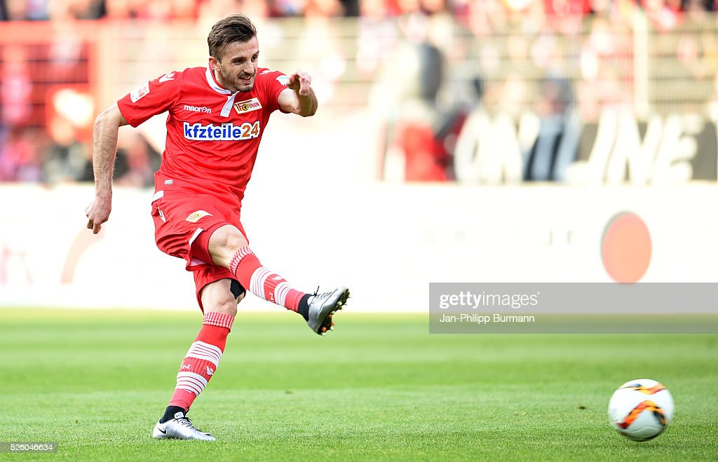 Adrian Nikici of 1 FC Union Berlin during the game between Union Berlin and dem VfL Bochum on April 29, 2016 in Berlin, Germany.