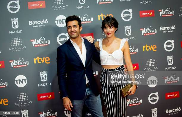 Adrian nunez and Alicia Fernandez attend the Platino Awards 2017 Welcome Party on July 20 2017 in Madrid Spain