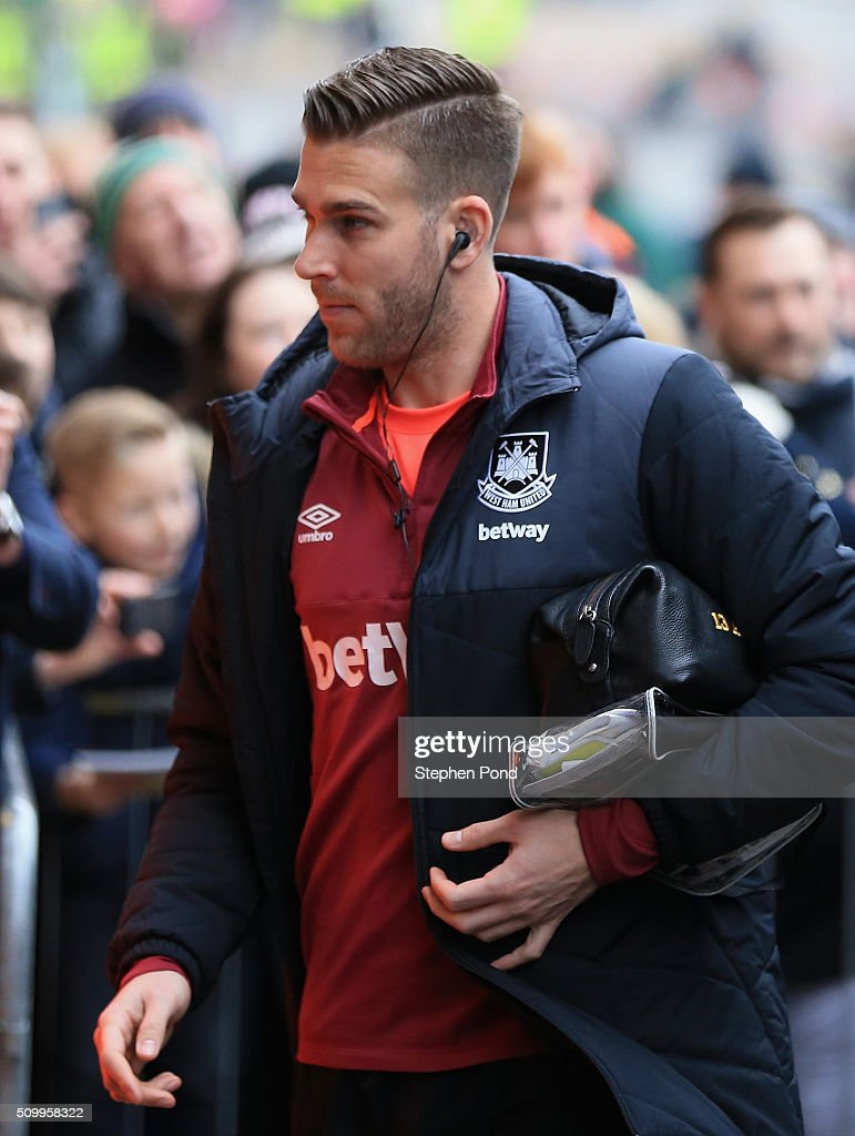 Adrian of West Ham United is seen on arrival at the stadium prior to the Barclays Premier League match between Norwich City and West Ham United at Carrow Road on February 13, 2016 in Norwich, England.