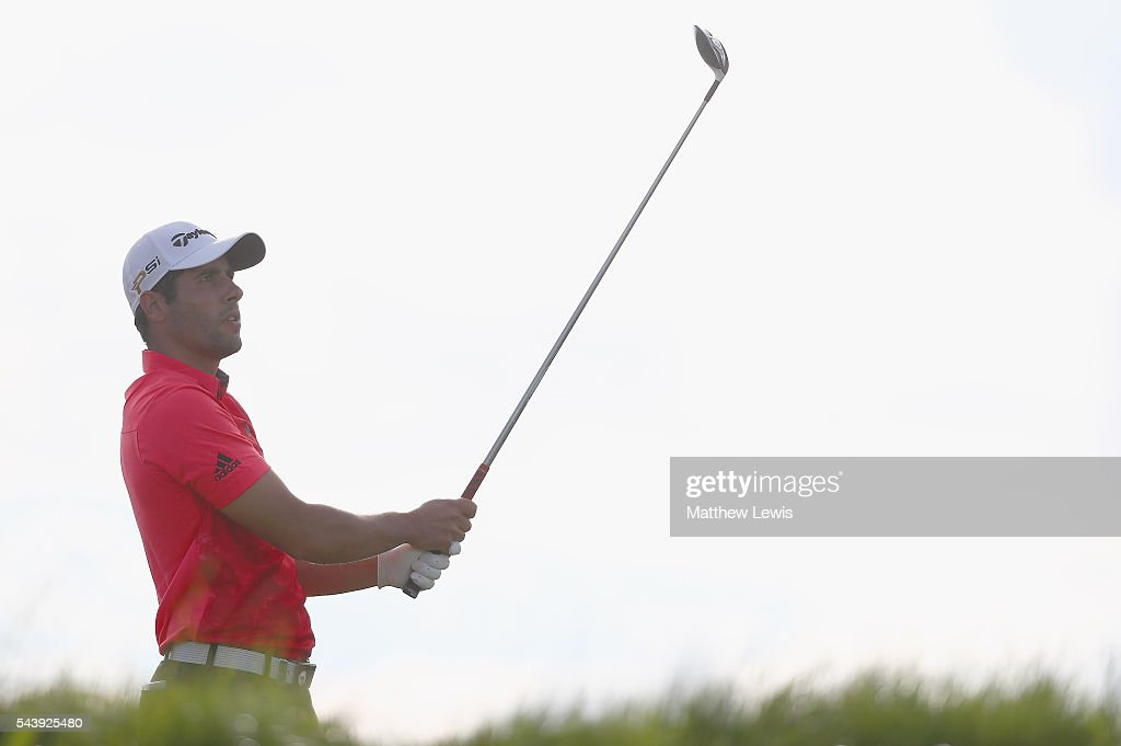 Adrian Otaegui of Spain tees off during day one of the 100th Open de France at Le Golf National on June 30, 2016 in Paris, France.
