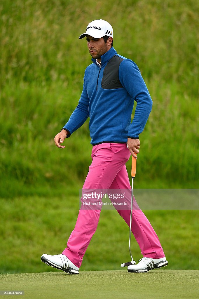 Adrian Otaegui of Spain walks across the 9th green during the second round of the 100th Open de France at Le Golf National on July 1, 2016 in Paris, France.