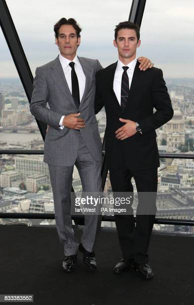 Adrian Pasdar amp Milo Ventimiglia from the cast of Heroes attends a photocall at 30 St Mary Axe in the City of London