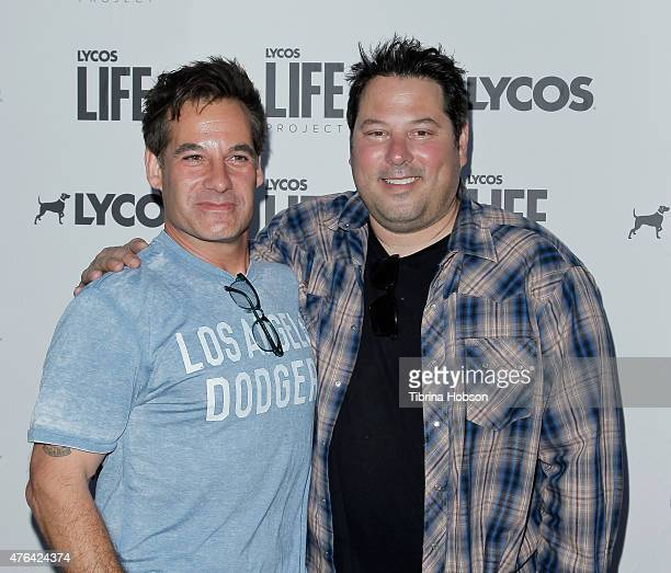 Adrian Pasdar and Greg Grunberg attend the LYCOS life project launch party on June 8 2015 in North Hollywood California
