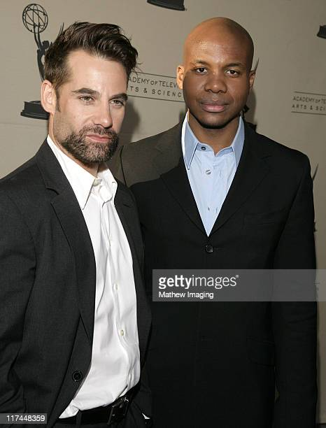 Adrian Pasdar and Leonard Robert during The Academy of Television Arts and Sciences Presents An Evening with 'Heroes' Red Carpet at Leonard H...