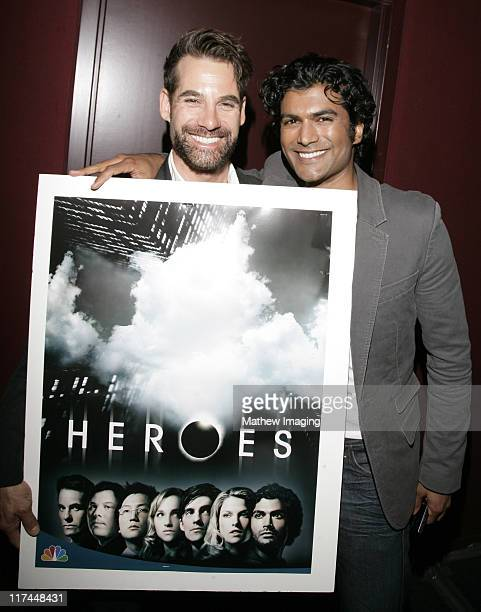 Adrian Pasdar and Sendhil Ramamurthy during The Academy of Television Arts and Sciences Presents An Evening with 'Heroes' Inside at Leonard H...