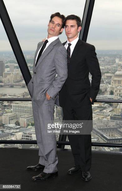 Adrian Pasdar Milo Ventimiglia from the cast of Heroes attends a photocall at 30 St Mary Axe in the City of London