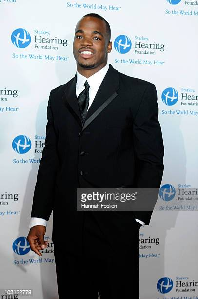 Adrian Petersen of the Minnesota Vikings attends the 2010 Starkey Hearing Foundation 10th Annual 'So the World May Hear' Gala at Saint Paul...