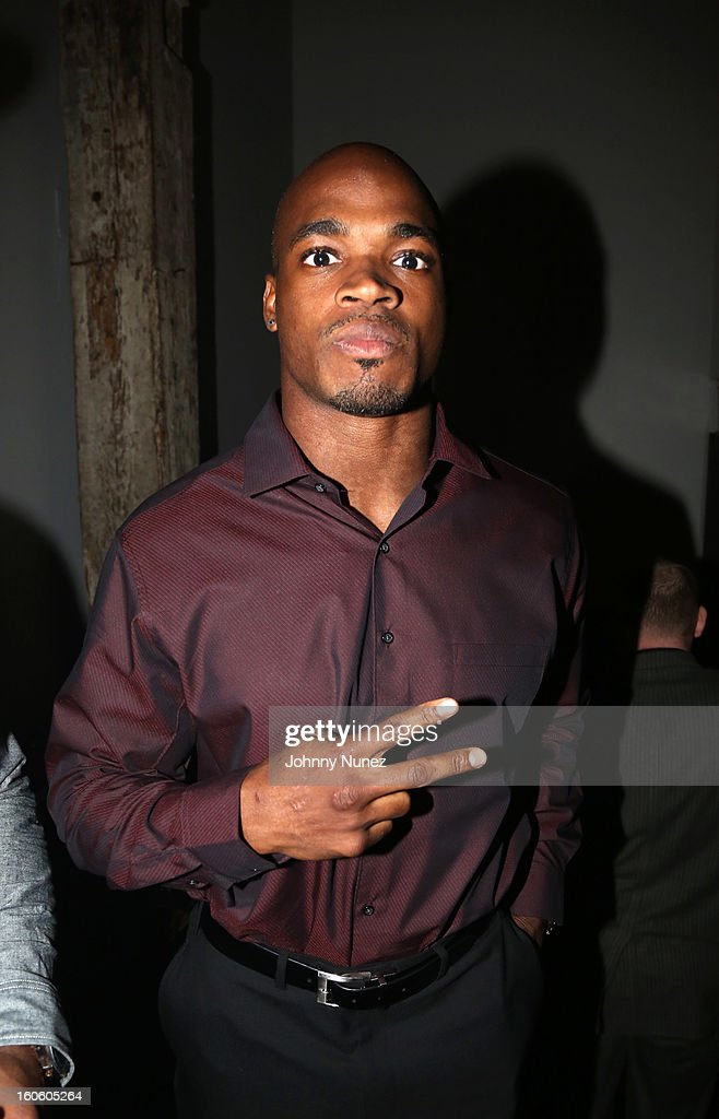 Adrian Peterson attends the Jay-Z & D'Usse Super Bowl Party at The Republic on February 2, 2013, in New Orleans, Louisiana.