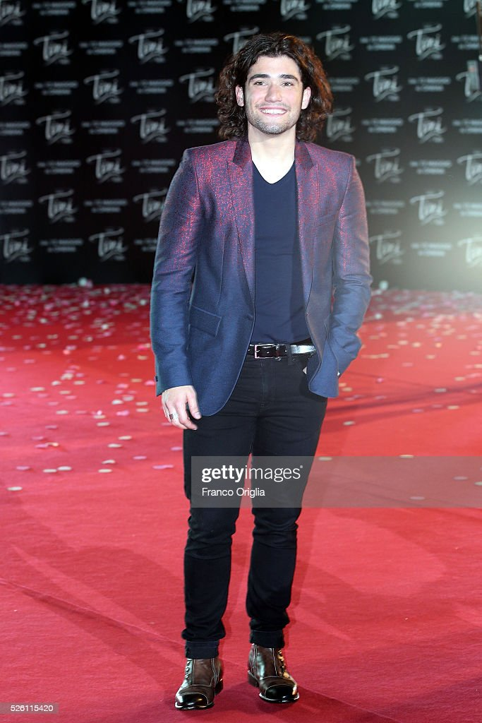 Adrian Salzedo attends 'Tini - The New Life Of Violetta' Premiere In Rome on April 29, 2016 in Rome, Italy.