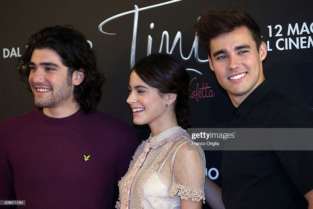 Adrian Salzedo, Martina Stoessel and Jorge Blanco attend 'Tini - The New Life Of Violetta' Photocall In Rome at Hotel Parco dei Principi on April 29, 2016 in Rome, Italy.