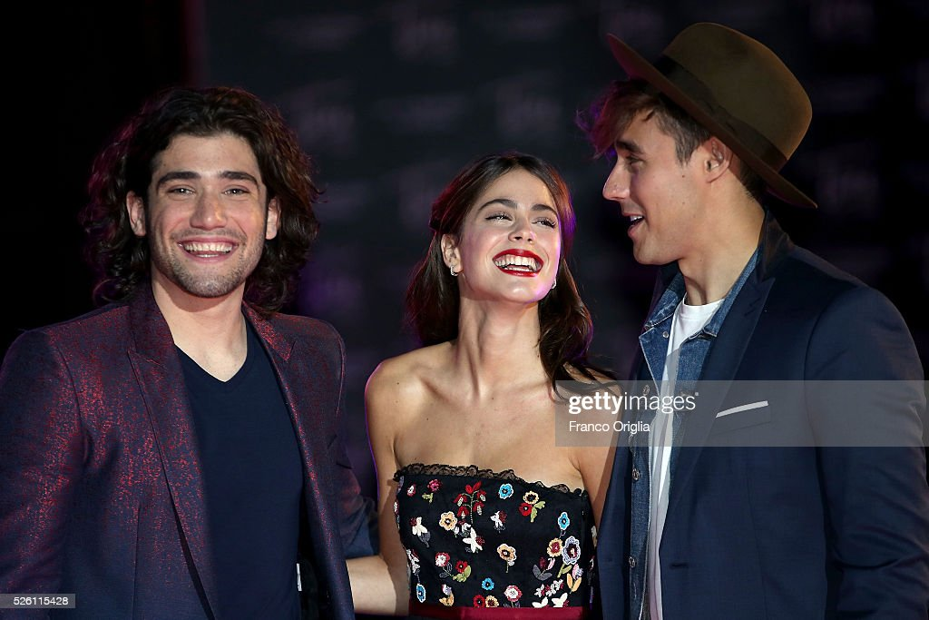 Adrian Salzedo, <a gi-track='captionPersonalityLinkClicked' href=/galleries/search?phrase=Martina+Stoessel&family=editorial&specificpeople=11048236 ng-click='$event.stopPropagation()'>Martina Stoessel</a> and <a gi-track='captionPersonalityLinkClicked' href=/galleries/search?phrase=Jorge+Blanco&family=editorial&specificpeople=5486518 ng-click='$event.stopPropagation()'>Jorge Blanco</a> perform during the 'Tini - The New Life Of Violetta' Premiere In Rome on April 29, 2016 in Rome, Italy.