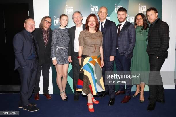 Adrian Scarborough Stephen Woolley Saoirse Ronan Ian McEwan Clare Stewart Dominic Cooke Billy Howle Elizabeth Karlsen and Samuel West attend the Love...