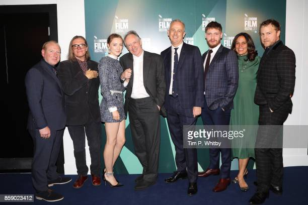 Adrian Scarborough Stephen Woolley Saoirse Ronan Ian McEwan Dominic Cooke Billy Howle Elizabeth Karlsen and Samuel West attend the Love Gala European...