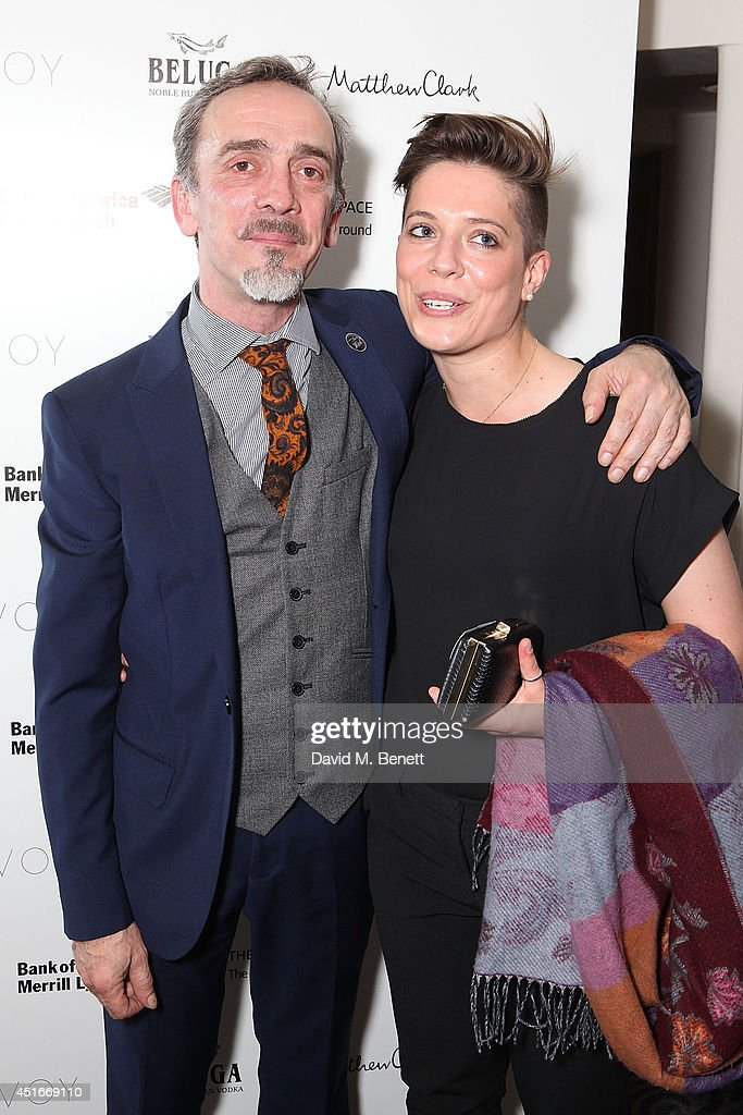 Adrian Schiller and Emily Rice attends an after party following the press night performance of 'The Crucible' at The Savoy Hotel on July 3, 2014 in London, England.