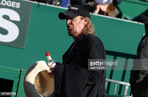 Adrian Smith of Iron Maiden attends day 6 of the MonteCarlo Rolex Masters an ATP Tour Masters Series 1000 on the clay courts of the MonteCarlo...