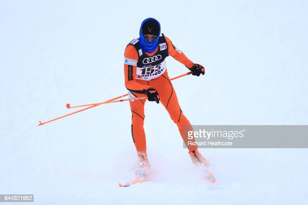 Adrian Solano of Venezuela competes in the Men's 16KM Cross Country Sprint qualification round during the FIS Nordic World Ski Championships on...