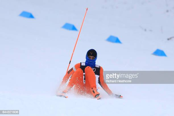 Adrian Solano of Venezuela compoetes in the Men's 16KM Cross Country Sprint qualification round during the FIS Nordic World Ski Championships on...