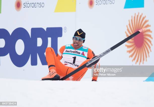 Adrian Solano of Venezuela during men´s 10 K qualification race at Lahti Stadium ahead of the FIS Ski World Championships on February 22 2017 in...