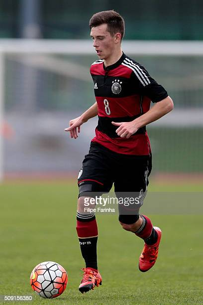 Adrian Stanilewicz of Germany during the UEFA Under16 match between U16 France v U16 Germany on February 6 2016 in Vila Real de Santo Antonio Portugal