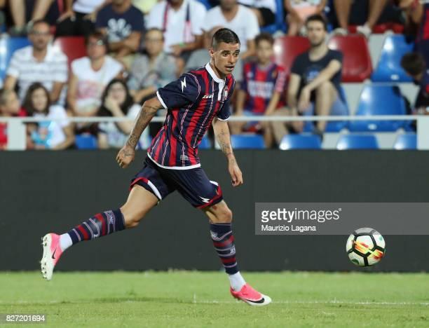 Adrian Stoian of Crotone during the PreSeason Friendly match between FC Crotone and Cagliari Calcio at Stadio Comunale Ezio Scida on August 5 2017 in...