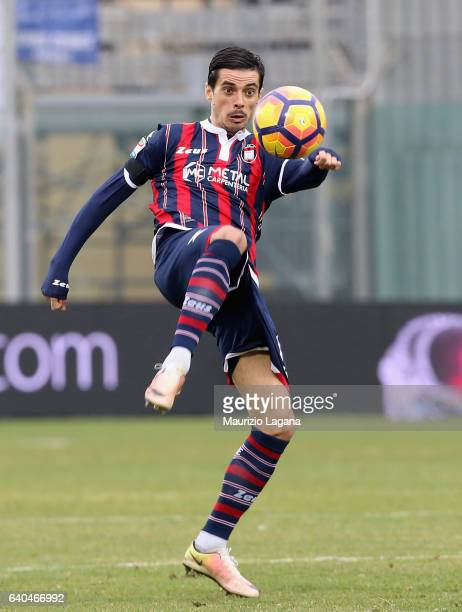 Adrian Stoian of Crotone during the Serie A match between FC Crotone and Empoli FC at Stadio Comunale Ezio Scida on January 29 2017 in Crotone Italy
