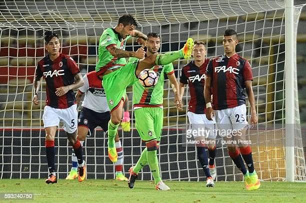 Adrian Stoian of FC Crotone in action during the Serie A match between Bologna FC and FC Crotone at Stadio Renato Dall'Ara on August 21 2016 in...