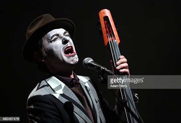 Adrian Stout of The Tiger Lillies performs during a concert at the Volksbuehne on December 14 2014 in Berlin Germany