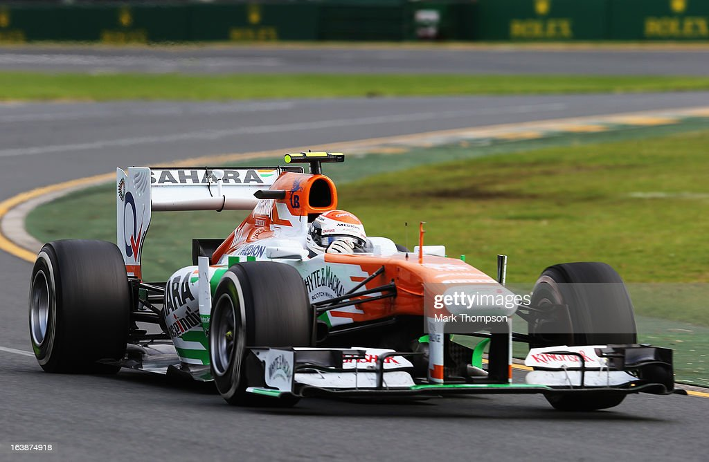 Adrian Sutil of Germany and Force India drives during the Australian Formula One Grand Prix at the Albert Park Circuit on March 17, 2013 in Melbourne, Australia.