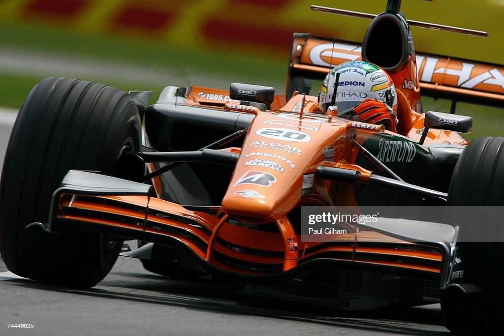 Adrian Sutil of Germany and Spyker F1 in action during practice for the Canadian Formula One Grand Prix at the Circuit Gilles Villeneuve on June 8, 2007 in Montreal, Canada.