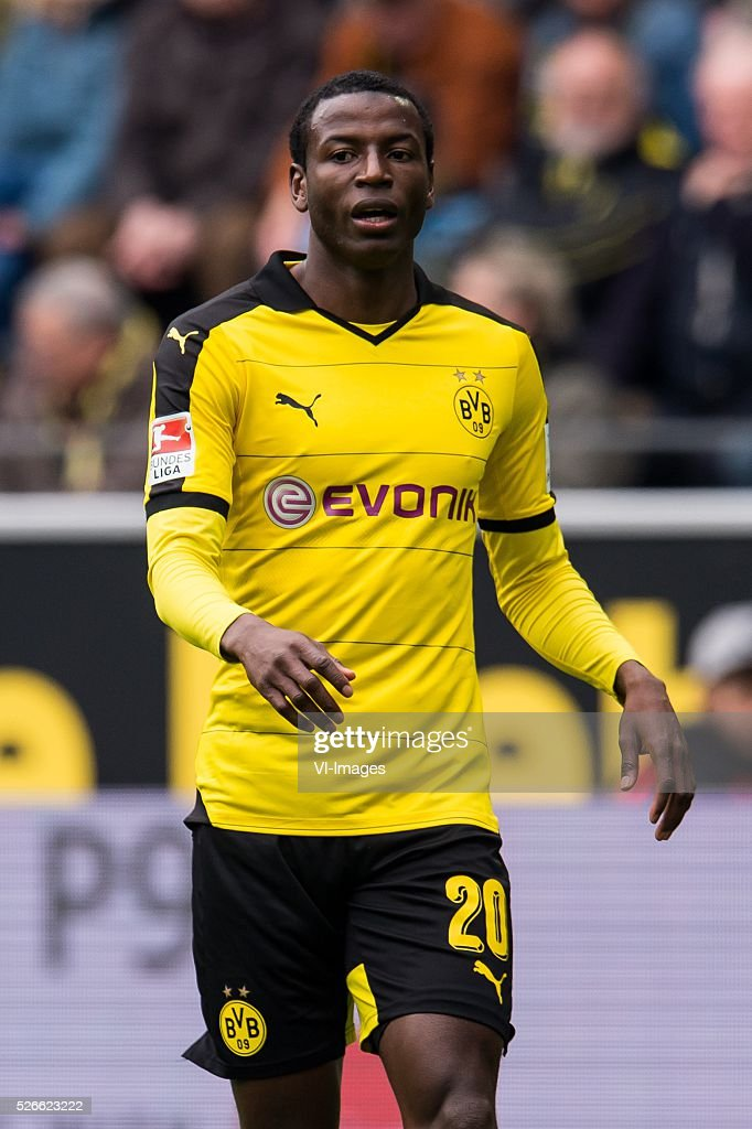Adrian Vasquez Ramos of Borussia Dortmund during the Bundesliga match between Borussia Dortmund and VfL Wolfsburg on April 30, 2016 at the Signal Idun Park stadium in Dortmund, Germany.