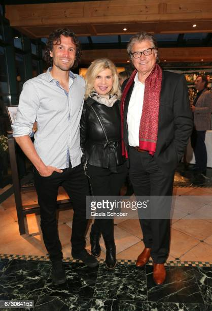 Adrian Winkler and Marianne and Michael Hartl during the piano night hosted by Wempe and Glashuette Original at Gruenwalder Einkehr on April 25 2017...